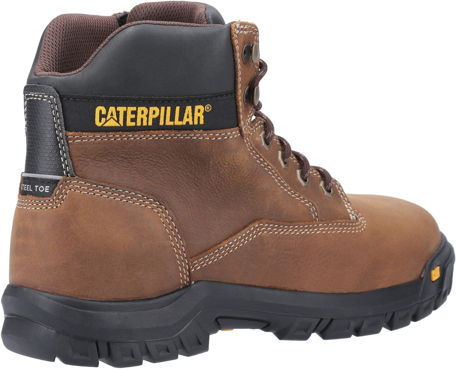 Caterpillar Men's Median S3 Lace Up Safety Boot Brown 30432