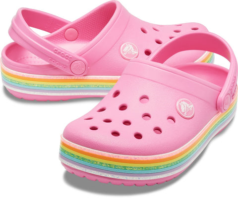 Crocs Kid's Rainbow Glitter Clog Various Colours 30711