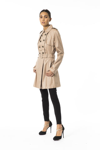 Byblos Women's Cartone Trench Coat Brown BY853432
