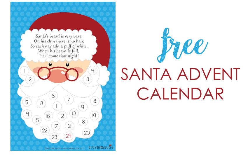 Freebie Friday - Santa Advent Calendar