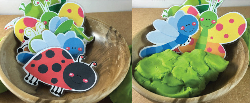 Free Playdough Bug Garden!
