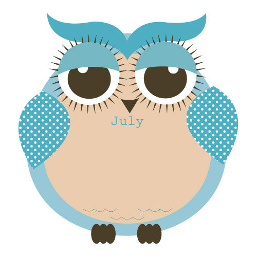 picture about Birthday Chart Printable identify Owl Birthday Chart