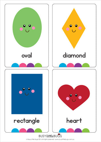 photo regarding Printable Shapes Flash Cards called Condition Flash Playing cards