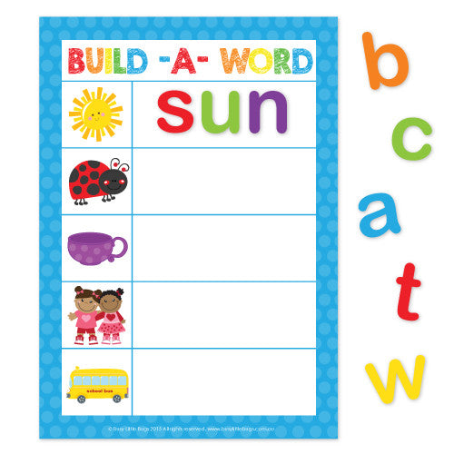CVC Build a Word Cookie Sheet Fun