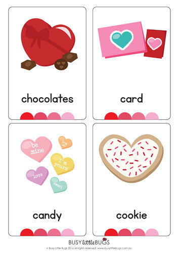 Valentines Day Flash Cards