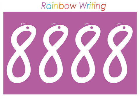 Numbers 1 - 20 Rainbow Writing