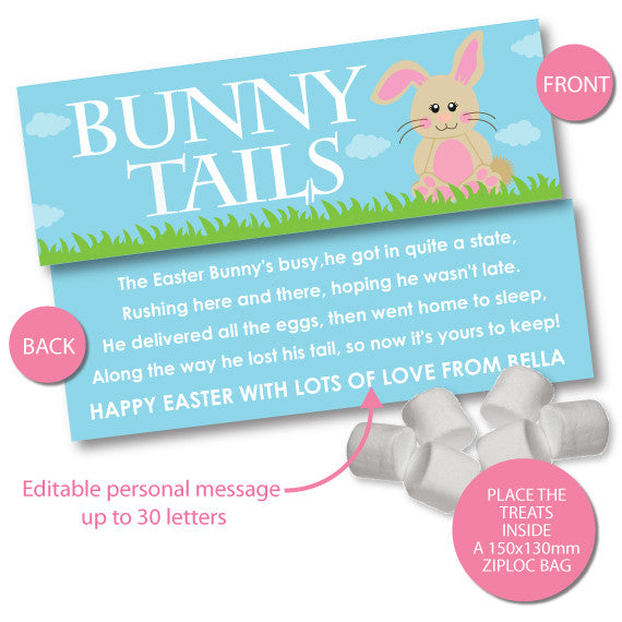 Bunny Tails Easter Bag Toppers