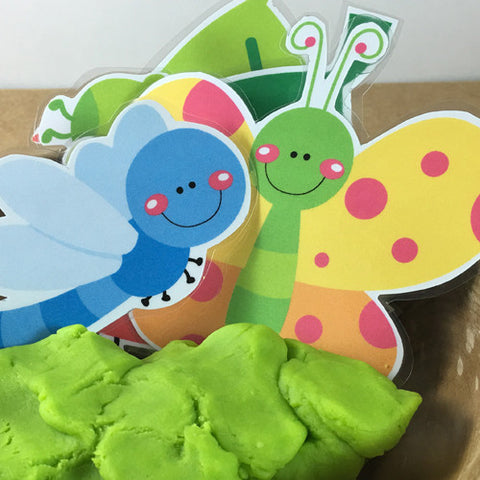 Playdough Bug Garden