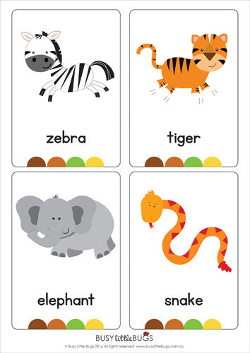 Wild image regarding zoo animal flash cards free printable