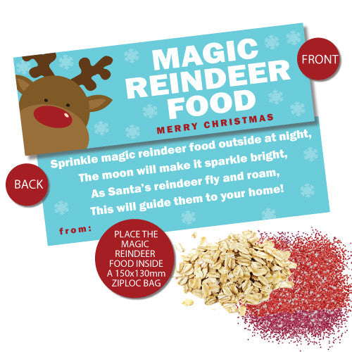 Magic Reindeer Food Bag Toppers – Busy Little Bugs