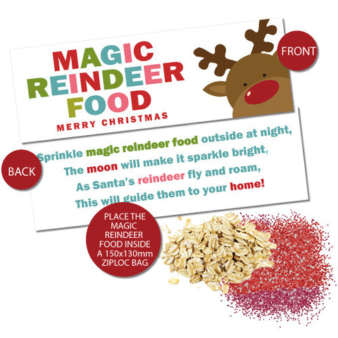 Magic Reindeer Food Bag Toppers - Bright