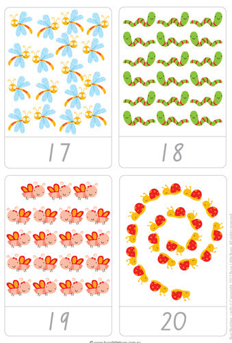 picture regarding Printable Number Cards named Small Bug Selection Flash Playing cards