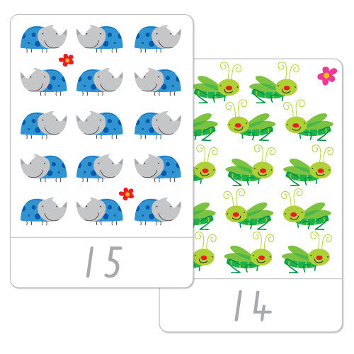 Little Bug Number Flash Cards
