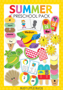 Summer Preschool Pack