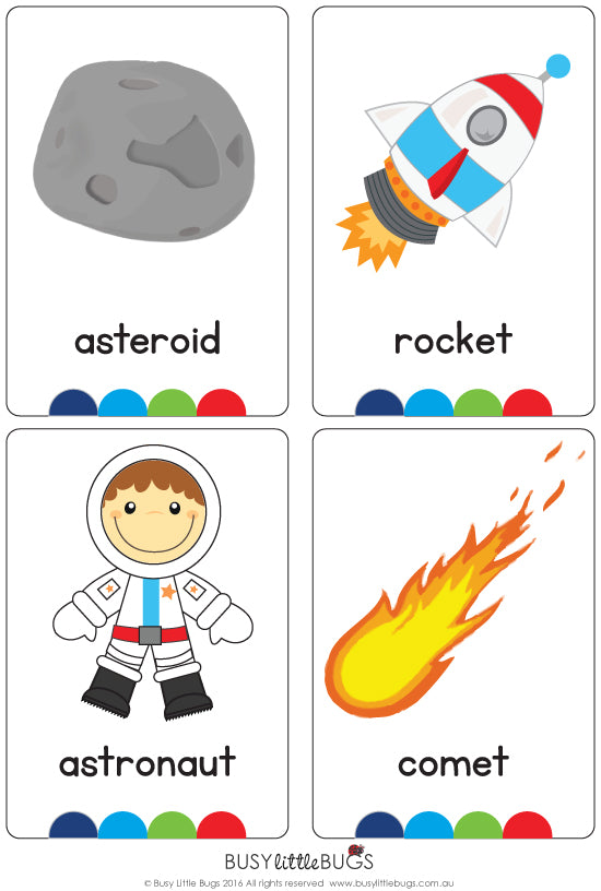 Space Flash Cards – Busy Little Bugs