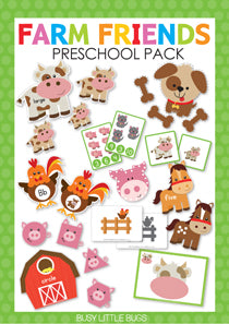Farm Friends Preschool Pack
