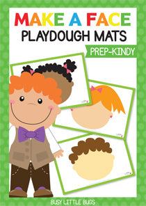 Make A Face Playdough Mats