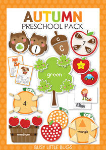 Autumn Preschool Pack