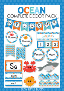 Ocean Friends Complete Decor Pack