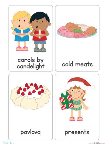 Christmas Around the World Flash Cards