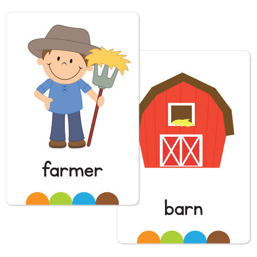 On the Farm Flash Cards
