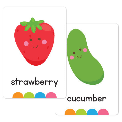 Fruit & Vegetable Flash Cards