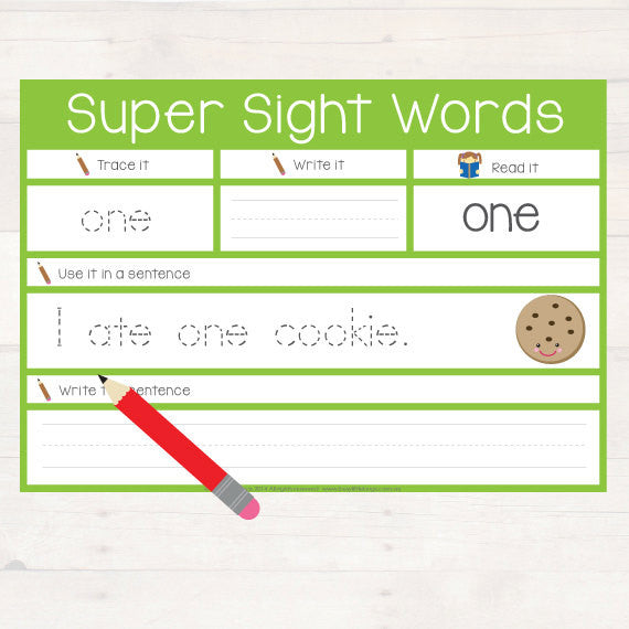 Super Sight Words Pre Primer