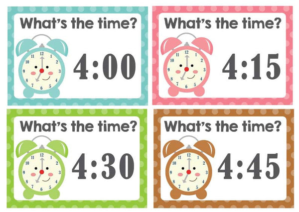 What's the Time Playdough Mats