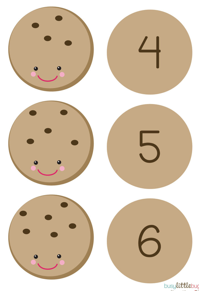 Cookie Number Match Busy Little Bugs
