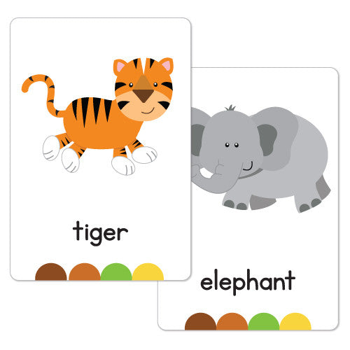 Jungle Animal Flash Cards Busy Little Bugs