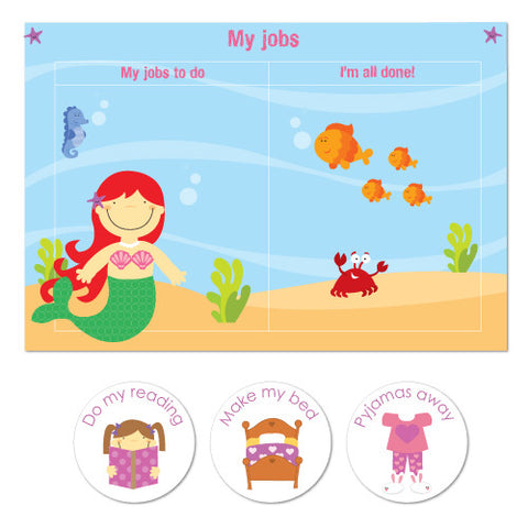 Mermaid Chore Chart