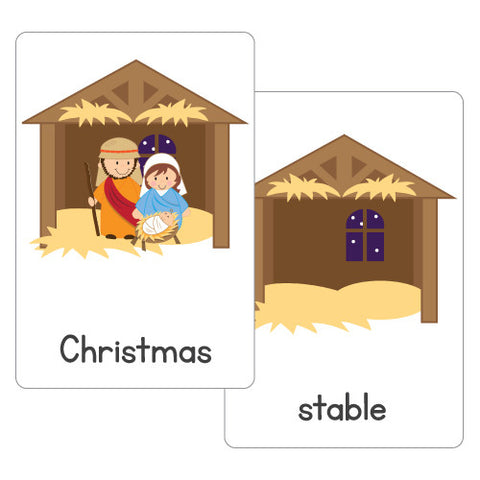 Christmas Nativity Flash Cards