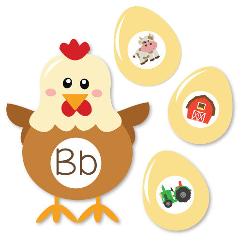 Chicken &  Egg Beginning Sounds Match