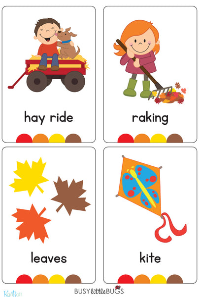 Autumn Flash Cards