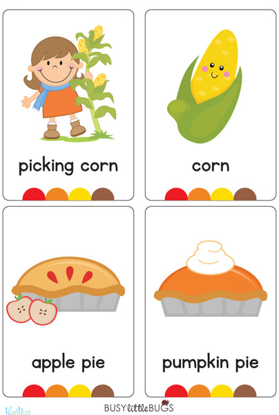 Autumn Flash Cards – Busy Little Bugs