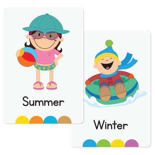 seasons flash cards � busy little bugs