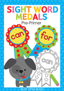 Sight Word Medals - Pre-primer