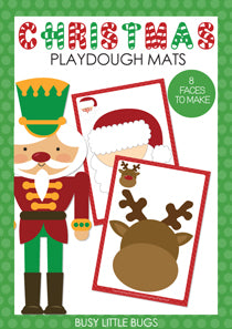 Chrismtas Playdough Mats