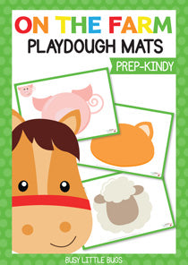 Farm Animal Playdough Mats