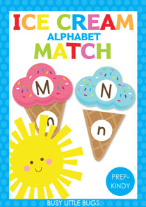 Alphabet Ice Cream Match