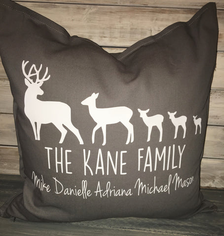 Deer Family Pillow