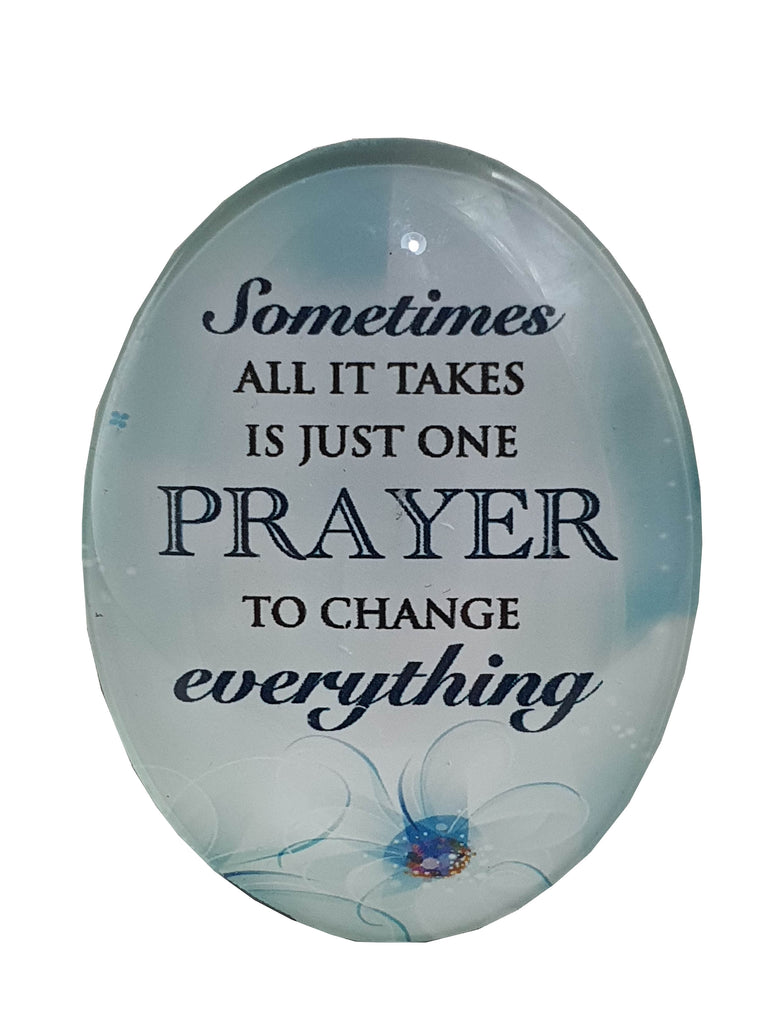 Resin Magnet: 'one Prayer can Change Everything'