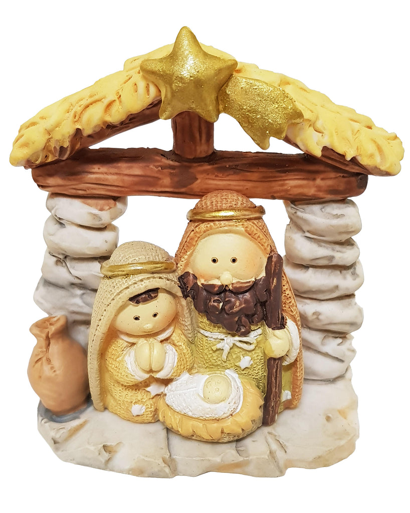 All-in-one Resin Nativity: grey pebbles