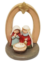 All-in-one Resin Nativity: oval