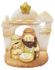 All-in-one Resin Nativity: gold