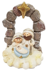 All-in-one Resin Nativity: dark stones