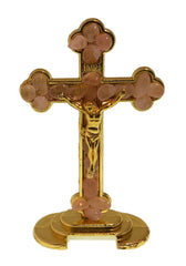 Cross with Crucifix and Rose Quartz