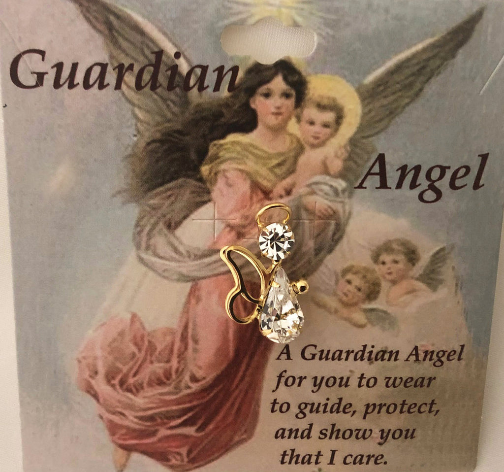 Pin Guardian Angel, with wings