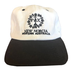 New Norcia Cap - red, black or blue & white