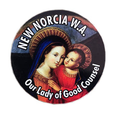 New Norcia Magnet, round